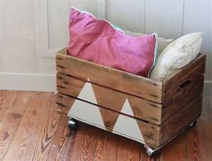 Coffre A Jouet A Roulette : diy 5 recycler une vieille caisse en bois chambre d ~ Teatrodelosmanantiales.com Idées de Décoration