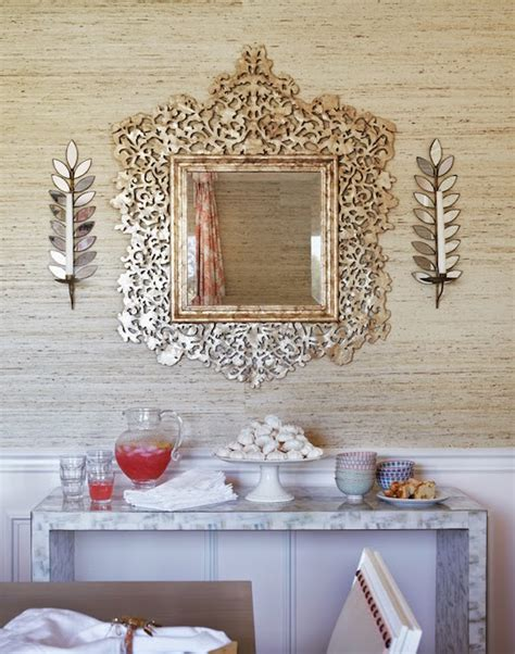 No matter the social gathering, a functional buffet table creates an enjoyable experience for family and friends. Dining Room Mirrored Buffet Design Ideas