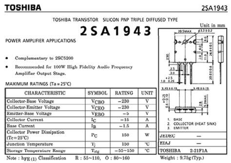 2sa1943 by pacalaya electronics electronic components 1 x pair of genuine toshiba