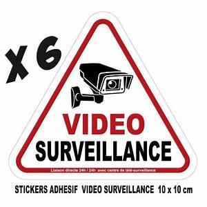 Video Surveillance Maison : autocollant videosurveillance achat vente autocollant ~ Premium-room.com Idées de Décoration