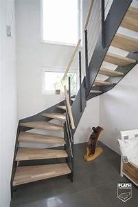 Einkaufstrolley Für Treppen : flachwangentreppe hpl treppe mit stufen aus eiche und ~ Jslefanu.com Haus und Dekorationen