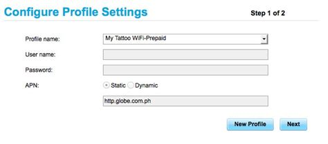 setup globe tattoo pocket wifi