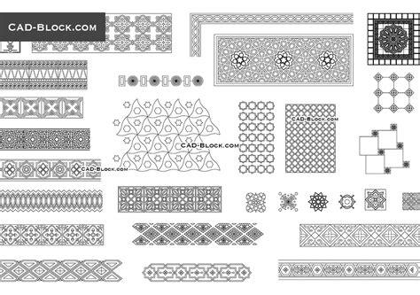 islamic pattern dwg