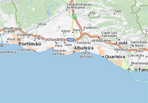 albufeira map detailed maps for the city of albufeira