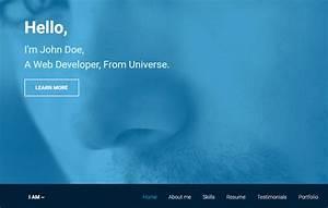 Latest Free Portfolio Resume Template Webthemez