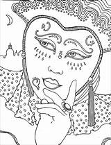 Carnival Coloring Pages Children Printable Justcolor sketch template