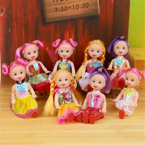 10cm Cute Girls Dolls Random Mixed Mini Kelly Doll Toys