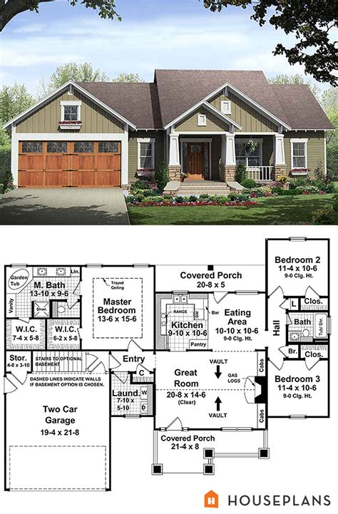 house plans with 3 master suites small bungalow house plan with master suite 1500sft