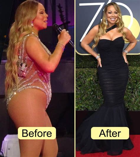 mariah careys stunning transformation  losing  pounds