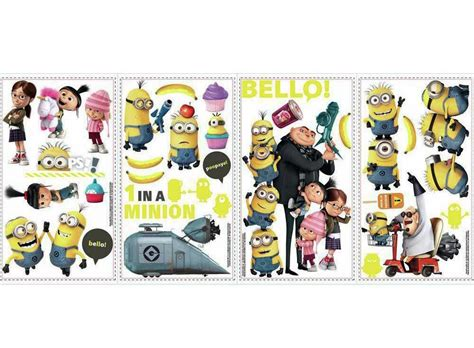 Wandtattoo Kinderzimmer Minions by Roommates Wandsticker Minions Despicable Me Tapetenwelt