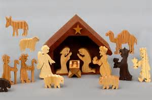 wooden nativity sets for children handmade in america