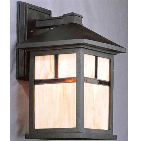 black mission style outdoor lighting bellacor