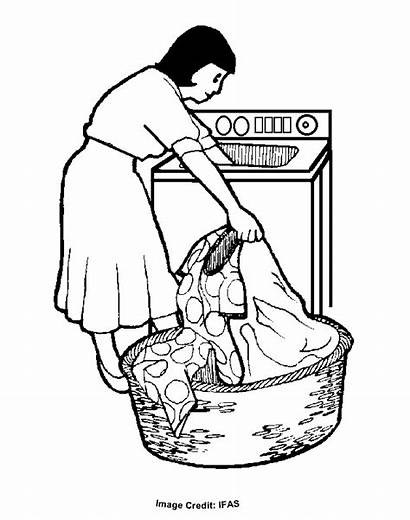 Coloring Laundry Colouring Pages Clipart Cliparts Printable