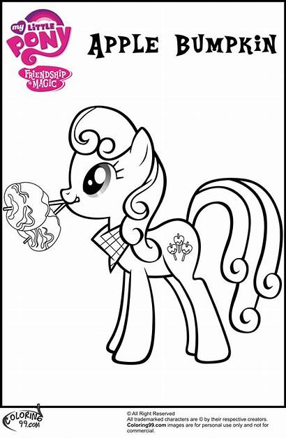 Coloring Apple Pages Mlp Pony Bumpkin Colouring