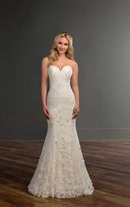 strapless wedding dress with floral lace martina liana With floral lace wedding dress