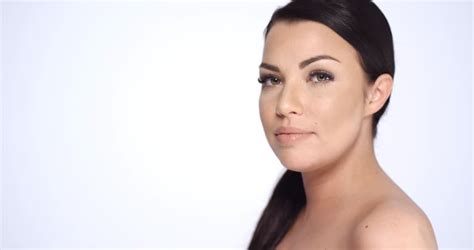 Sensual Brunette Woman In Beauty Shoot She Posing With