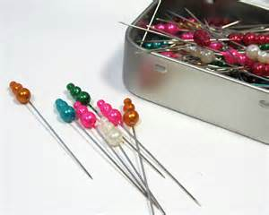 Straight Sewing Pins Decorative
