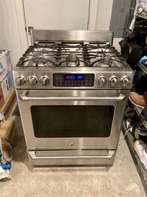 ge cafe   dual fuel gas range  baking drawer oven  sale  renton wa offerup
