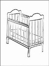 Coloring Cot Crib Furniture Pages sketch template
