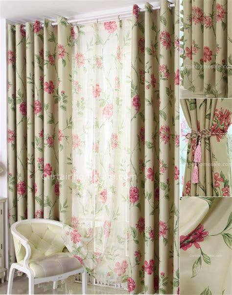 Bedroom Curtains On Sale by Floral Print Polyester Bedroom Or Living Room