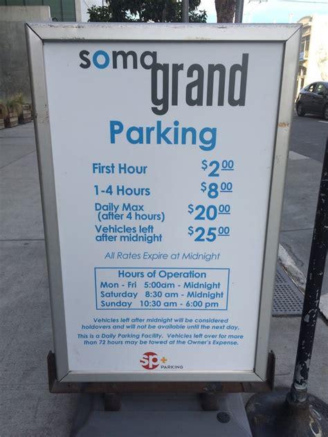 soma grand parking garage soma grand garage parking garages soma san francisco