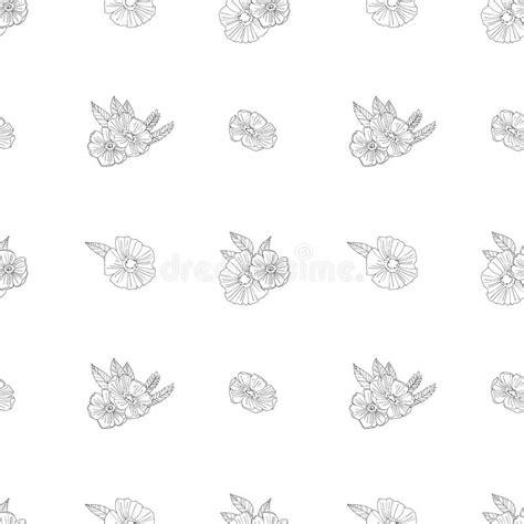 zwart witte bloemen op witte achtergrond vector illustratie illustratie bestaande uit nave