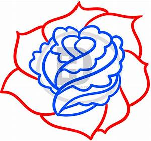 How To Draw A Rose For Beginners, Step by Step, Drawing ...
