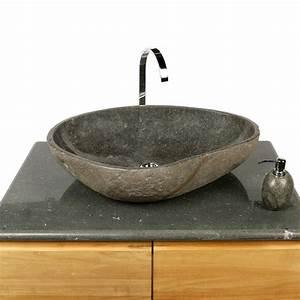 Waschbecken 70 Cm : naturstein waschbecken 70 cm innen poliert bei wohnfreuden kaufen ~ Indierocktalk.com Haus und Dekorationen