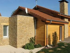 archicube flament berthoin architectes realisations With maison bois et pierre