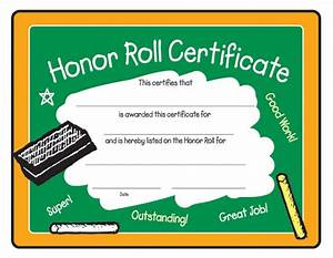 award certificates With a b honor roll certificate template