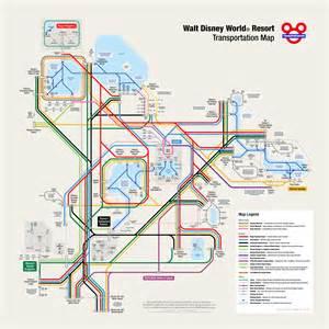 Boat Driving Area by Walt Disney World Transportation Map In Metro Style