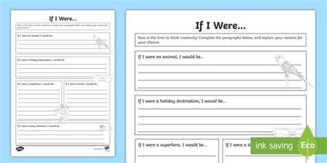 year 3 if i were worksheet activity sheet week back
