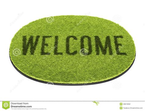Green Welcome Mat by Green Welcome Mat Stock Illustration Image 46613932