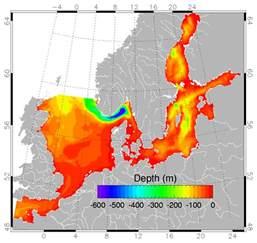 Ocean Depth North Sea Map