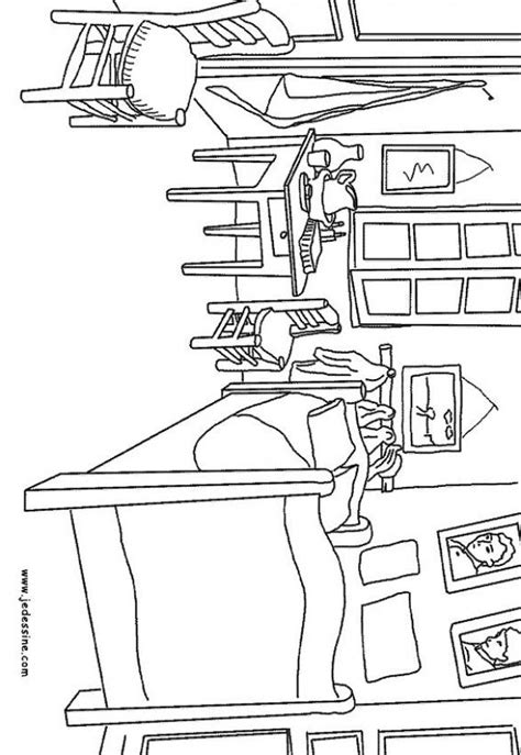 gogh la chambre myroom free colouring pages