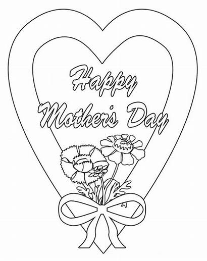 Mother Happy Coloring Mothers Clip Clipart Save