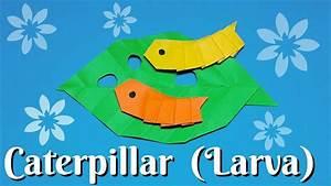 Origami Caterpillar (Larva)easy to fold easy to follow HD