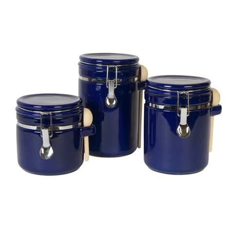 blue kitchen canisters blue kitchen canister sets decorating clear