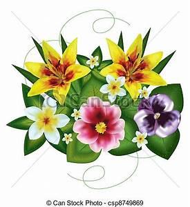 Blumen Bilder Gemalt : eps vektoren von blumengebinde von sch ne blumen gemalt auf a wei es csp8749869 ~ Orissabook.com Haus und Dekorationen