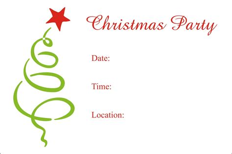 printable christmas invitations christmas party free printable holiday invitation