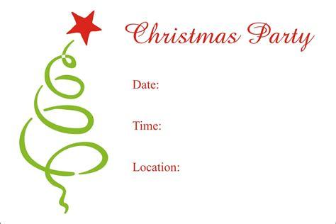 Christmas Party Free Printable Holiday Invitation