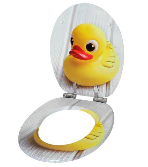 WC Sitz mit Absenkautomatik Quietscheente WCShop24de