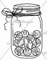 Jar Marble Template Coloring Marbles Pages Templates Sketch sketch template
