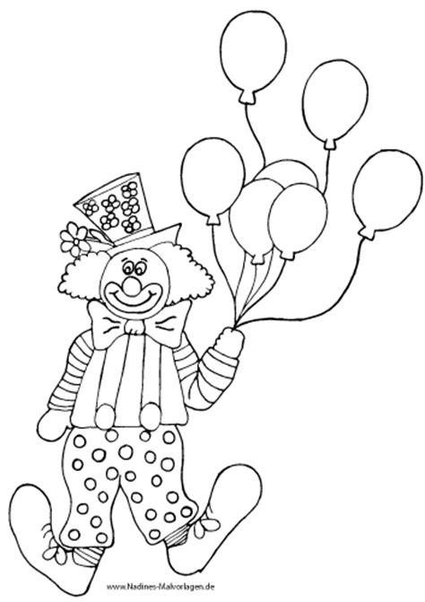 ausmalbilder zirkus clown nadines ausmalbilder
