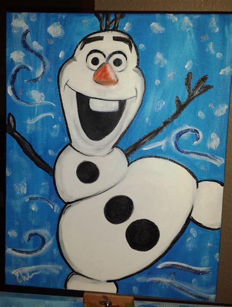 olaf disneys frozen canvas painting
