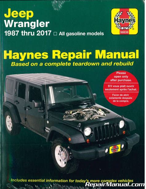 free car repair manuals 1993 jeep wrangler electronic valve timing jeep wrangler 1987 2017 haynes auto repair manual