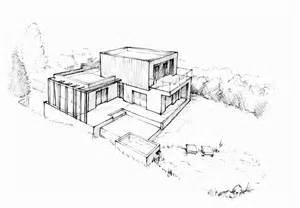 architecture moderne maison dessin maison moderne