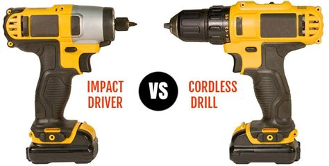 impact driver  drill driver    differences