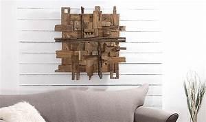 Decoration Murale Design : d coration murale design en bois de teck tendance naturel ~ Teatrodelosmanantiales.com Idées de Décoration