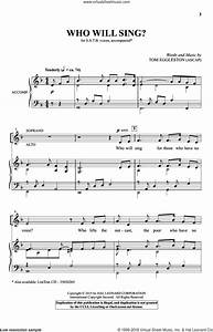 Eggleston - Who Will Sing? sheet music for choir (SATB ...